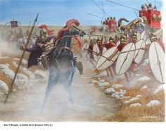 The Battle of Antioch in 145 BC saw the defeat and overthrow of Seleucid king Alexander Balas by Ptolemy VI Philometor of Egypt, but the Egyptian pharaoh died in the battle. This battle is also known as the Battle of the Oenoparus. - art by Sean O'Brogain