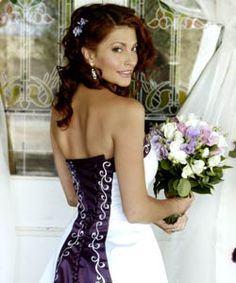 A Beautiful Purple Wedding Dress. Crafted at Caleche Bridal Centre in Norwood South, Australia