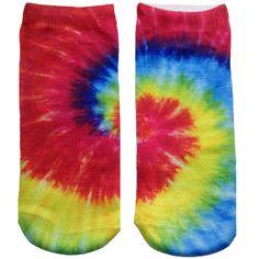 Living Royal The Tie-Dye Socks in Multi ($8) ❤ liked on Polyvore featuring intimates, hosiery, socks, tie dye, short socks, tie-dye socks, tie dye socks, tye dye socks and tie dyed socks