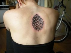 Pine cone tattoo-  I really really love this.