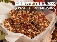 ... dried fruit, peanuts, peanut butter, and a little bit of brown sugar