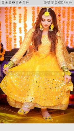 Pakistani Mehndi Dress, Bridal Mehndi Dresses, Pakistani Wedding Outfits, Bridal Dress Design, Pakistani Bridal Dresses, Pakistani Wedding Dresses, Pakistani Dress Design, Bridal Outfits, Bridal Lehenga