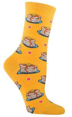 pancakes fun food socks by socksmith in gold Silly Socks, Funky Socks, Crazy Socks, Cute Socks, Happy Socks, Awesome Socks, Food Socks, Sirius Black, Mellow Yellow