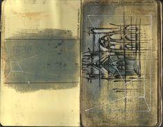 ARCHITECTURAL COLOR SKETCHES | 1041  utopiarchive:    Sketchbook (Late 2008)  Graeme Crorkin