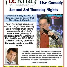 Tonight tonight. No cover. Great food. We need doing 45 minutes or so of funny comedy. I will be there at 8 having dinner. Come ruin my appetite.