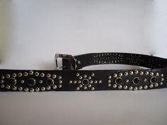 Western rockabilly belt: Cinturón negro con por CanyoneroBelts