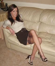 "immaslutwifelover: "" ""I ❤️ her sexy beautiful legs in high heels and shiny stockings, and tight mini skirt. Stockings And Suspenders, Stockings Legs, Nylon Stockings, Vintage Stockings, Stockings Lingerie, Nylons, Pantyhosed Legs, Bas Sexy, Fembois"