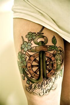 I love this... I wanted to get a nautical theme tattoo, and this would actually be a good memorial piece...
