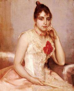 """Charles Hermans Belgian artist 1839-1924 """"Spanish Beauty"""""""
