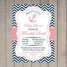 Nautical+Baby+Shower+Invitation++Printable+Red+por+VividLaneDesigns,+$18,00
