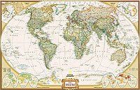 Study, library, kids room. Super large as a feature wall. National Geographic World Maps