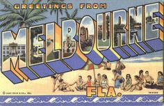 Greetings From Melbourne Florida Large Letter