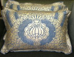 Fortuny Pillow Nicolo Pattern Pomegranate by OldeWorldPillows