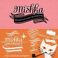 Mishka and Mishka Ornaments Fonts