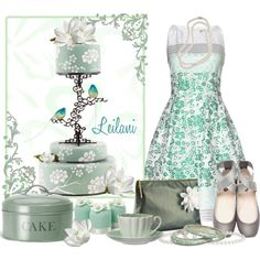 Tea and cake party by leilani-almazan on Polyvore