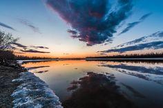 Tanana River Sunrise, Fairbanks, Alaska, April 26, 2015 | by yukonbasin