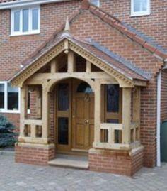 Guiding entrance porch design try this site Porch Canopy, Door Canopy, Porch Swing, Veranda Design, Porch Kits, Front Porch Design, Building A Porch, Vestibule, House With Porch