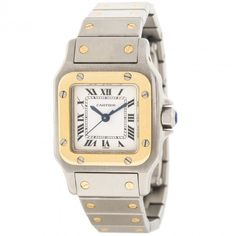 Cartier Santos 18Kt Yellow Gold and Stainless Steel Automatique Womens Watch