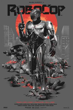Check out this awesome Robocop poster artwork. By Grzegorz Domaradzki Best Movie Posters, Movie Poster Art, New Poster, Art Posters, Action Movie Poster, Action Film, Film Movie, Film Science Fiction, Sci Fi Movies