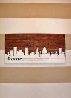 ANY CITY  Hand Painted Baltimore Skyline by HartandHomeDesigns, $85.00