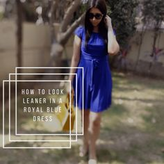 How to Look Leaner in a Royal Blue Dress