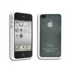 GRATIS iPhone 4(S) TPU Zwart / Witte Zijde (t.w.v. €14,95) - Hoesjes - iPhone 4(S) - Telefoon Accessoires