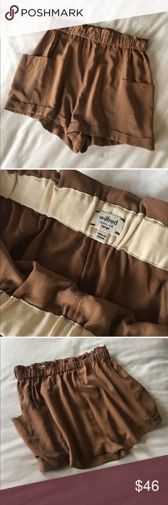 Aritzia Wilfred Silk Shorts These shorts are only worn twice. They are 100% Silk and have a stretch waistband. Make an offer! Aritzia Shorts Bermudas