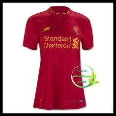 Fotballdrakter Liverpool FC Dame BENTEKE #9 Hjemmedraktsett 2016-2017