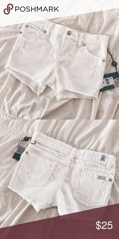 7 for all mankind Girls Denim White Shorts Brand new with tags. Distressed. No trades. 7 For All Mankind Bottoms Shorts