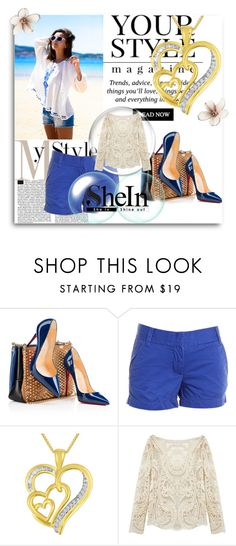 """""""shein"""" by alma-j ❤ liked on Polyvore featuring Christian Louboutin, J.Crew, Pussycat, women's clothing, women, female, woman, misses, juniors and shein"""