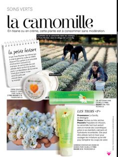 In the pages of LOULOU our Pure Calmille products! Dans les pages de LOULOU : la Camomille !
