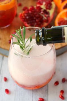 Want a delicious, classy cocktail that everyone at your holiday party will love? My Pomegranate Citrus Champagne Cocktail is made with sweet blood orange slices, pomegranate juice and seeds, citrus vodka and topped with Champagne. This libation is perfect for Thanksgiving, Christmas, New Years and fantastic for brunch, too!