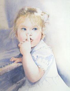 Martine Vanparijs   WATERCOLOR Watercolor Portraits, Watercolor Art, Watercolours, Figurative, Disney Characters, Fictional Characters, How To Memorize Things, Paintings, Artists