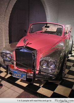 This pink car