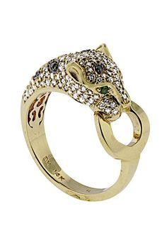 Signature Yellow Gold Diamond & Emerald Ring, TCW l EFFY Jewelry - new arrivals Effy Jewelry, Gold Jewelry, Jewlery, Fine Jewelry, Cartier, Tiger Love, Diamond Are A Girls Best Friend, Wedding Rings, Bling