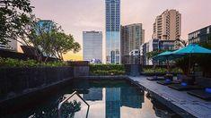#MaitriaHotel #Chatrium #SukhumvitSoi18 #KhlongToei #Bangkok #MyKrungthep Hidden Treasures, Atrium, Bangkok, Relax, Swimming, Outdoor Decor, Dip, Instagram, Swim