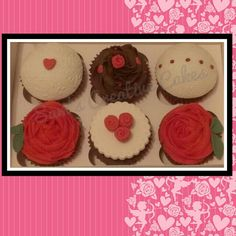 Red rose valentines cupcakes