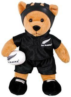 All Blacks Rugby Player Bean Bag Bear - 30cm http://www.shopnewzealand.co.nz/en/cp/All_Blacks_Rugby