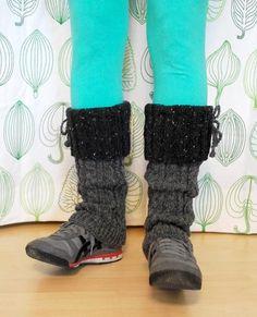 Slouchy Cabled Legwarmers - via @Craftsy