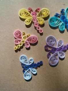 Paper Quilled Dragonfly Embellishments by cocoscreations on Etsy