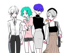 Houseki no Kuni Pretty Art, Cute Art, Character Illustration, Illustration Art, Drawing Studies, Anime Ships, Manga, Character Design Inspiration, Anime Comics