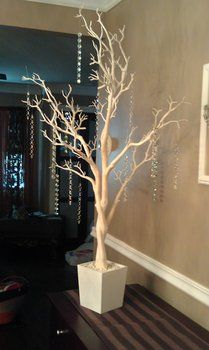 white tree with crystals