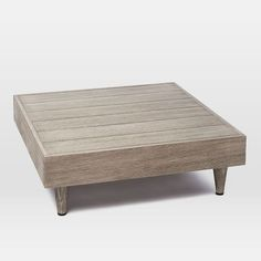 Portside Low Coffee Table - Weathered Gray