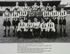 Grimsby Town team group in Grimsby Town Fc, John Newman, Football Images, Back Row, Brollies, Gold Rush, One Team, Old Photos, 1970s