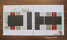 SCRAPBOOKING LAYOUT: Loving this paper collection Jack