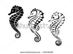 Seahorse Tribal Tattoo