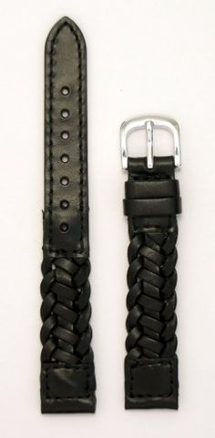 Save $12.05 on LadiesBraided Italian Leather Watchband Black 14mm Watch Band - by JP Leatherworks; only $12.95
