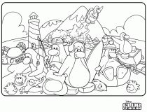 Dibujos para colorear | Club Penguin