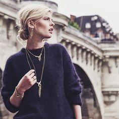 #Metal Look  #uneligneparis #parisianstyle #fw17 #handmadejewelry #paris…