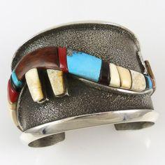 Avanyu Cuff by Edison Cummings - Garland's Indian Jewelry